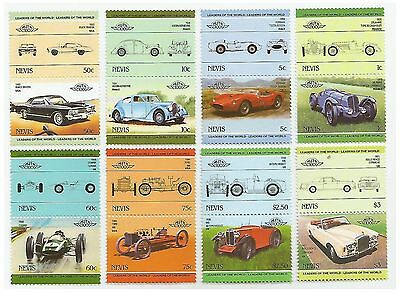 Nevis Stamps Cars 3rd Leaders of the World series 8 pair set / MNH