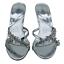 miniatura 15 - Señoras para mujer Sandalias De Boda Nupcial Diamante Gatito Tacón Fiesta Mocasines Reino Unido