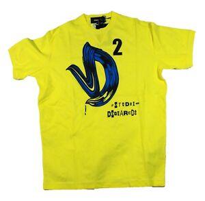 DSQUARED-Nuovo-di-Zecca-2-S71GD0217-172-Giallo-T-shirt