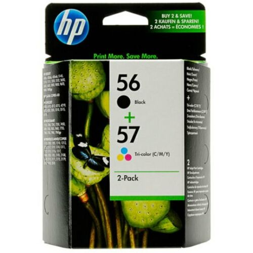 HP 56 57 Combo Black /& Color Combo Ink Cartridges NEW GENUINE