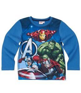 Avengers-Assemble-Jungen-Langarmshirt-in-3-Varianten-und-4-Groessen