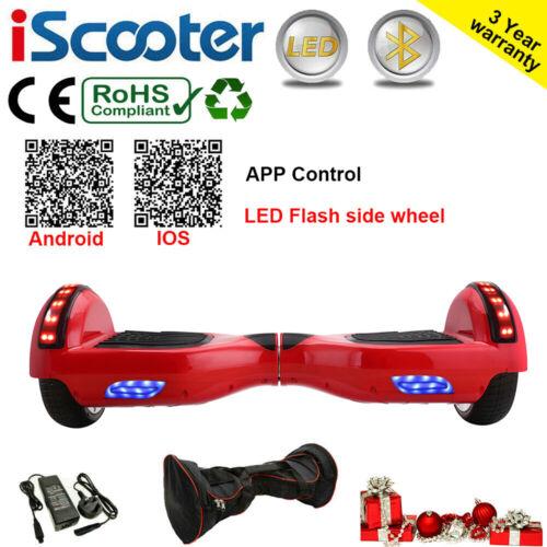 "6.5/"" Self Balance Scooter Electric Scooter Balance Board Bluetooth+LED+Bag UK"