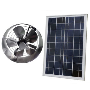 New 25w Solar Powered Attic Ventilator Gable Roof Vent Fan With 30w Foldable Solar Panel Home Improvement Heating, Cooling & Vents