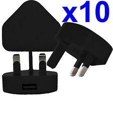 10 X 100% CE Usb Uk Enchufe de Pared de CA Cargador Adaptador para iPhone iPod Samsung HTC