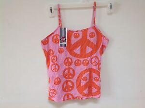 Scanty NWT sleep shirt dress pajamas new top pjs new orange pink ... 02feb8dc9