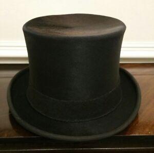 Image is loading Vintage-Lock-amp-Co-Rabbit-Fur-Top-Hat- c63e3d4348b