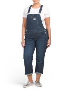 Details about Levis Plus size Easy Dark denim Jean bib Overalls 20 womens  20W