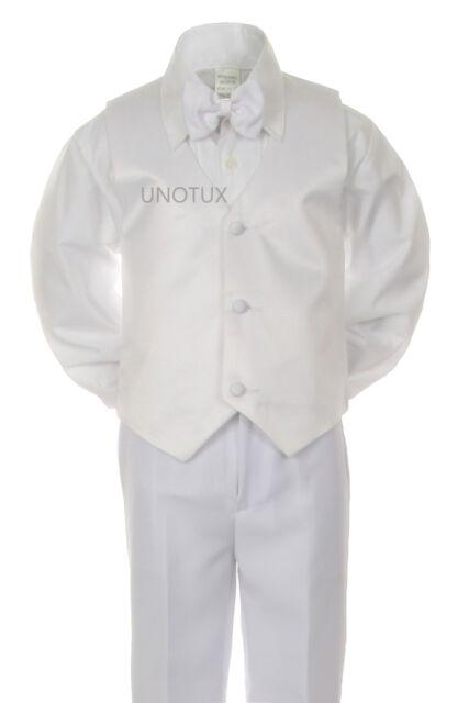 D2 Baby /& Boy christening Communion Wedding Formal Party Tuxedo White Suit