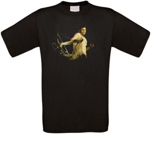 Daryl Dixon Zombie Undead TWD Serie Kult T-Shirt alle Größen NEU