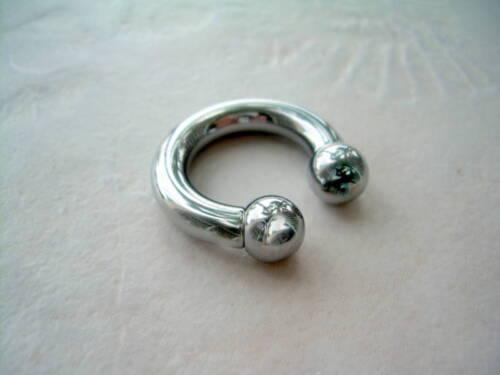 "4g 1//2/"" Circular Barbell Horseshoe Ball Steel  PA  8MM Internally Threaded"