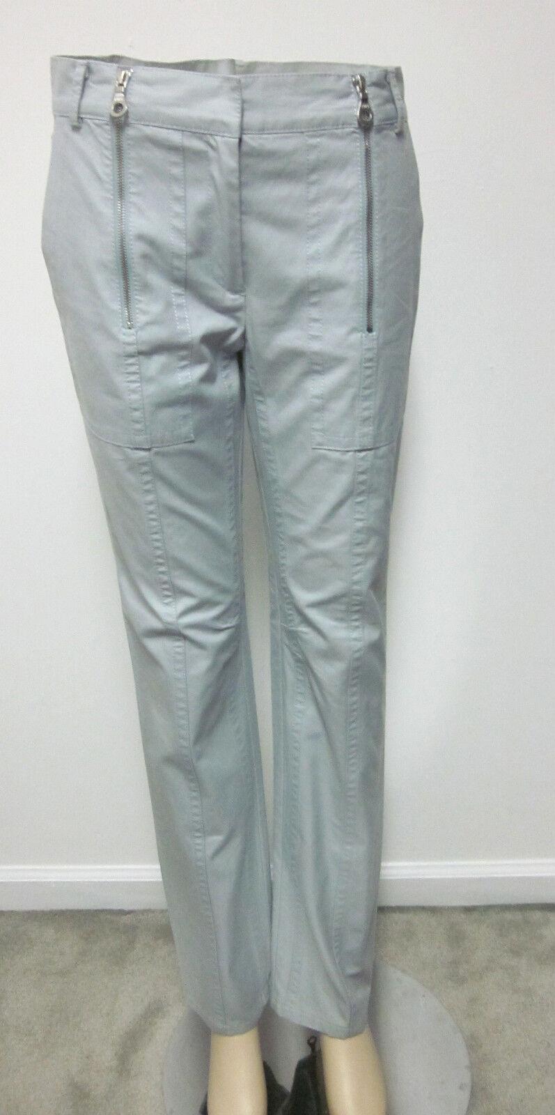 MARC JACOBS COLLECTION Pants Trousers Pale bluee Cotton Zippers 4  585 MINT