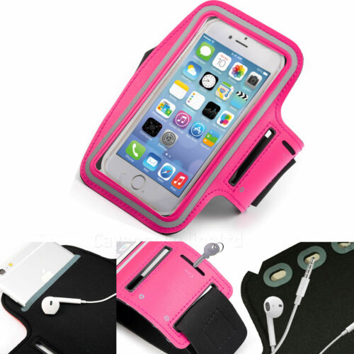 Pink Sports Armband Phone Case Cover Gym Running FOR Motorola Moto G7 Power