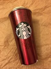 Starbucks China Red Frost Winter To Go Heritage Tumbler Limited Ed