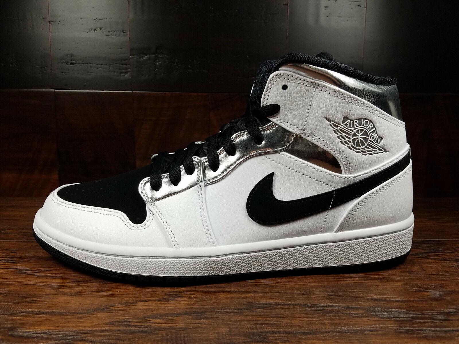 Air Jordan 1 Mid - Alternate Kawhi Think 16 (White Metallic Silver)