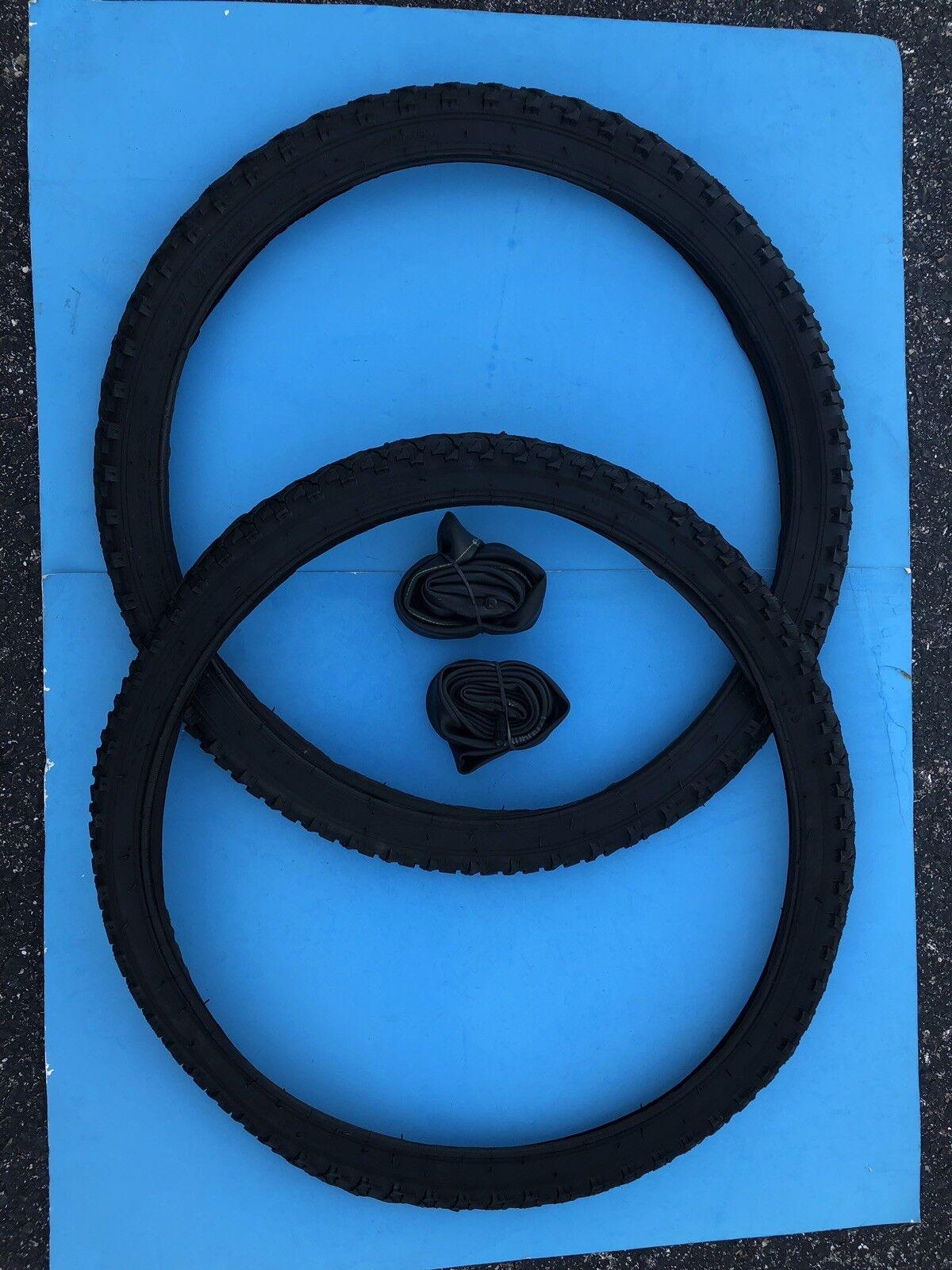 24  Inch Tire & Inner Tube Set, 2 Tires-2 Inner Tubes, Durable, Good Quality