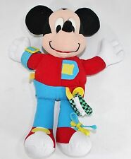 DISNEY MICKEY MOUSE TODDLER LEARNING TOY Buckle velcro Tie Fanny Pack 14""