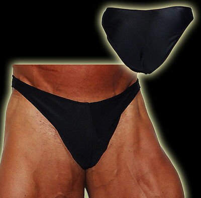 Beliebte Marke Explosive Fibres Men's Black Body-building Competition Posing Trunks: Medium