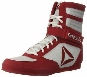 Homme-Reebok-Boxing-Boot-Blanc-Excellent-Red-CN4739