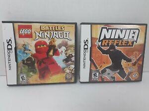 Ninja Reflex & Lego Battles Ninjago Nintendo DS Both Complete