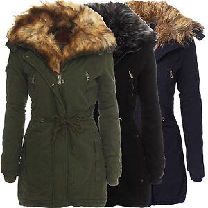 damen warmer winter parka mantel jacke stepp kunstfell kragen kapuze gef ttert ebay. Black Bedroom Furniture Sets. Home Design Ideas