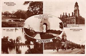 R244986 Leicester. l'arche du Souvenir. Monument commémoratif de guerre. The municipal Building