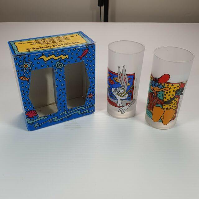 10 1973 Looney Tunes Pepsi 16oz Glasses White Letters Bugs
