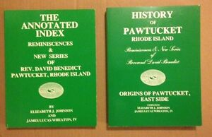 E-Johnson-History-of-Pawtucket-Rhode-Island-Reminiscences-D-Benedic-Signed