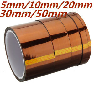 10mm-20mm-30mm-50mm-100ft-Heat-Resistant-Polyimide-Tape-Rouleau