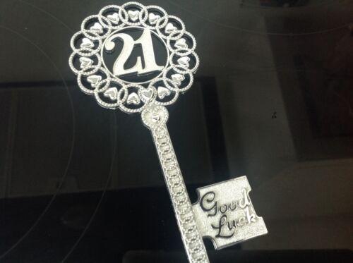 21ST birthdaygood Chance Clé 15 cm longueur couleur argent