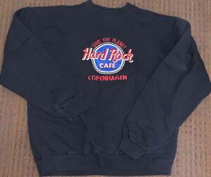 Hard-Rock-Cafe-COPENHAGEN-Black-SWEATSHIRT-Mens-XL-Long-Sleeve-w-034-STP-034-HRC-Logo
