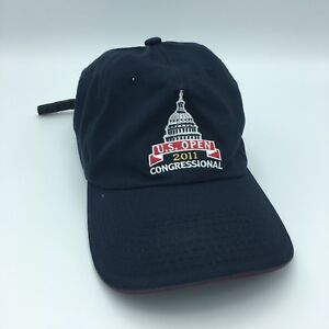 4e54ade70f5 Congressional US Open 2011 Golf Hat Navy Blue USGA Member Adjustable ...
