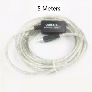 480Mbps USB 2.0 Extension Cable w//Active Repeater Male To Female Adapter Lot WI1