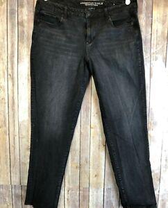 American-Eagle-Women-039-s-Skinny-Jeans-Black-SZ-18-L-039-Super-Stretch-039-x4-High-Rise