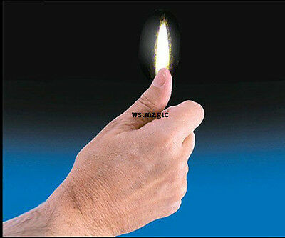 THUMB TIP FLAME Magic Tricks Close Up Street Party Show Stage Parlor Fire T11 DD