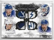 2015-16 Exquisite MATERIAL QUADS Toronto Maple Leafs 4 PLAYER PATCH 24/25 SP
