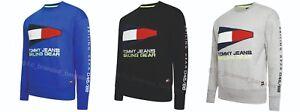 Tommy-Hilfiger-Jeans-90s-Engranaje-De-Vela-Logo-Sudadera-Negro-Gris-Royal-SMLXL