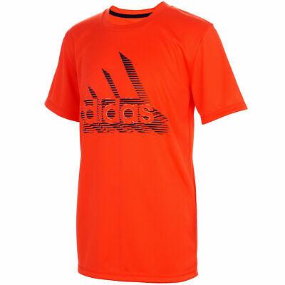 NEW Adidas Boys' Badge Of Sport Short Sleeve Tee T Shirt Semi ...