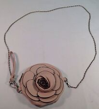 PINK ROSE FLOWER LEATHER PURSE