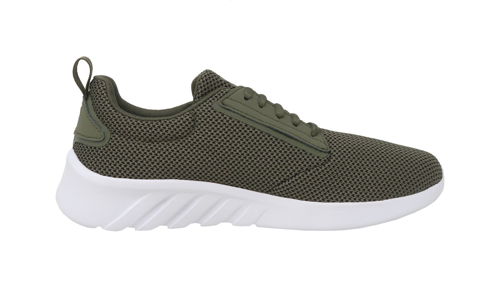 K-SWISS Shoes Mens Low Aeronaut Mesh Burnt Olive Green Green Olive White Athletic Sneaker 369195
