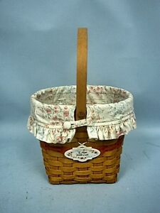 Longaberger Mother's Day Basket 2001 With Cloth Liner