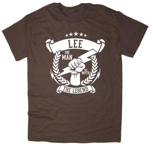 6 colours Christmas gift idea The Legend T-Shirt The Myth Lee The Man