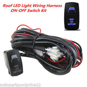 Control Wiring Harness Kit Relay for Roof LED Light Bar 40 Am 12V ON//OFF Switch