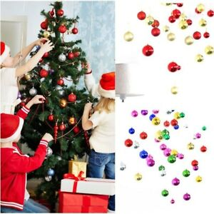 Albero-di-Natale-Decorazione-Sfera-Palline-Festa-Ornamento-Decor-24pcs-3cm