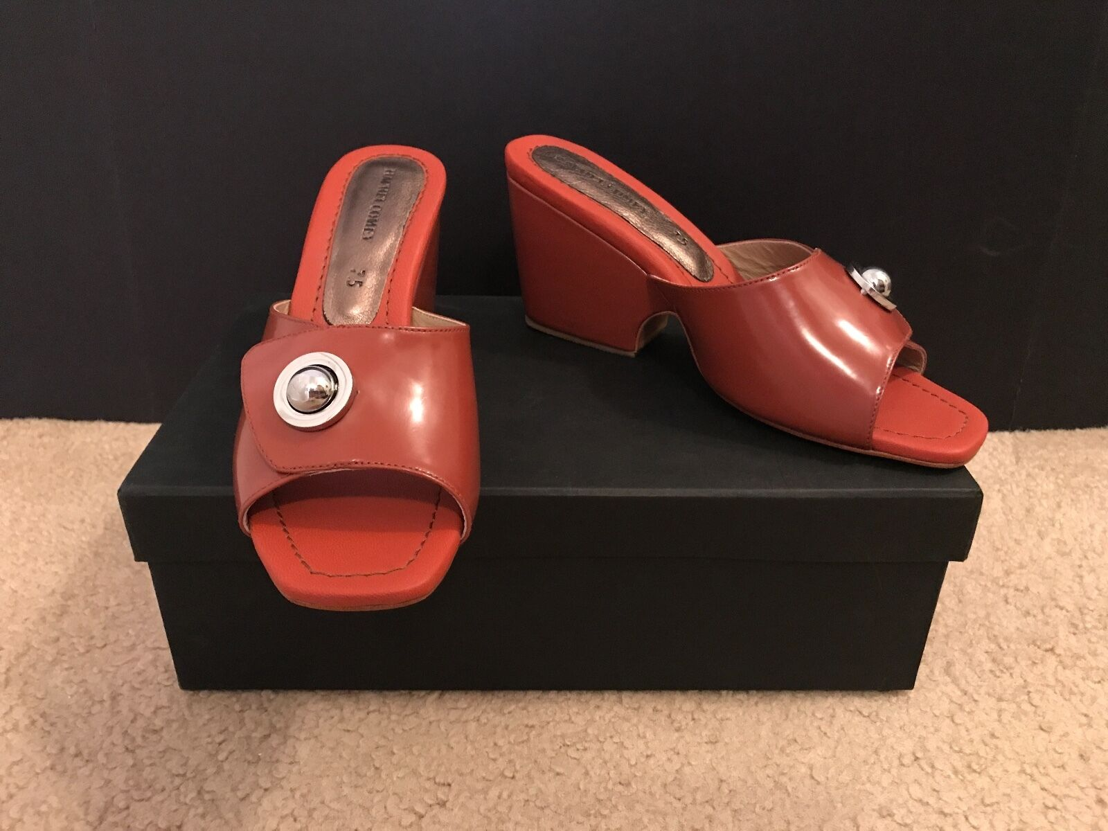 ANTHROPOLOGIE BY RACHEL COMEY HESS MULES SIZE 7,5M ROGUE SATINADO
