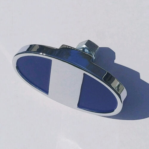 Ford Model A Large Outer Bumper Clamp Chrome 1928-1929 Painted Blue