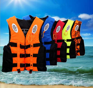Adults Kids Life Jacket Swimming Fishing Floating Kayak Buoyancy Aid Vest