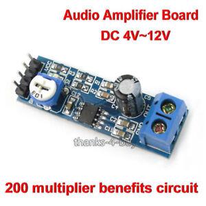 Lm386 DC 5v 12v Mono Mini Audio Amplifier Board Amp Module HIFI DIY