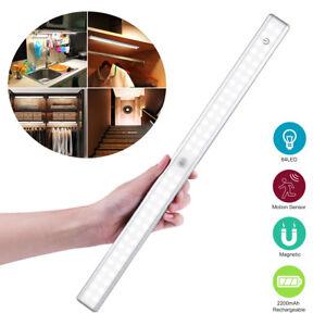 64 LED bajo gabinete luz pir sensor de movimiento lámpara armario armarioES