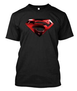 smallville-Superman-Red-Logo-Custom-Men-039-s-T-Shirt-Tee