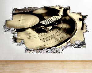 R296 Expediente de la música tabla de pegatina pared vinilo 3d habitación niños